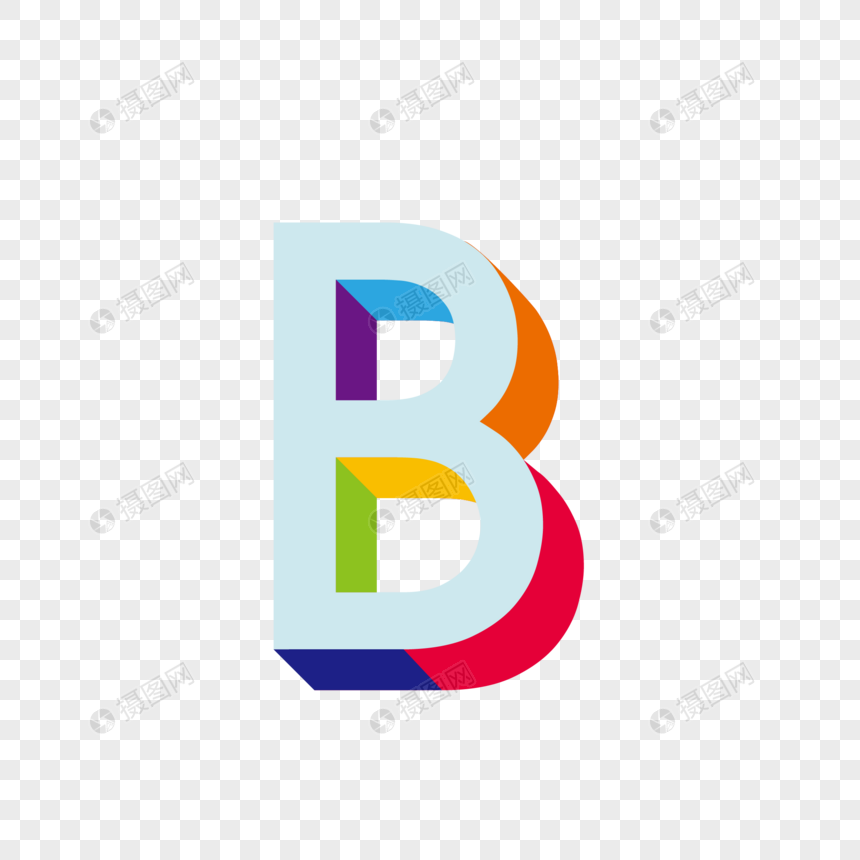 Stereo english letter b png image_picture free download