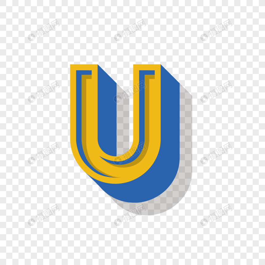 stereo english letter u png