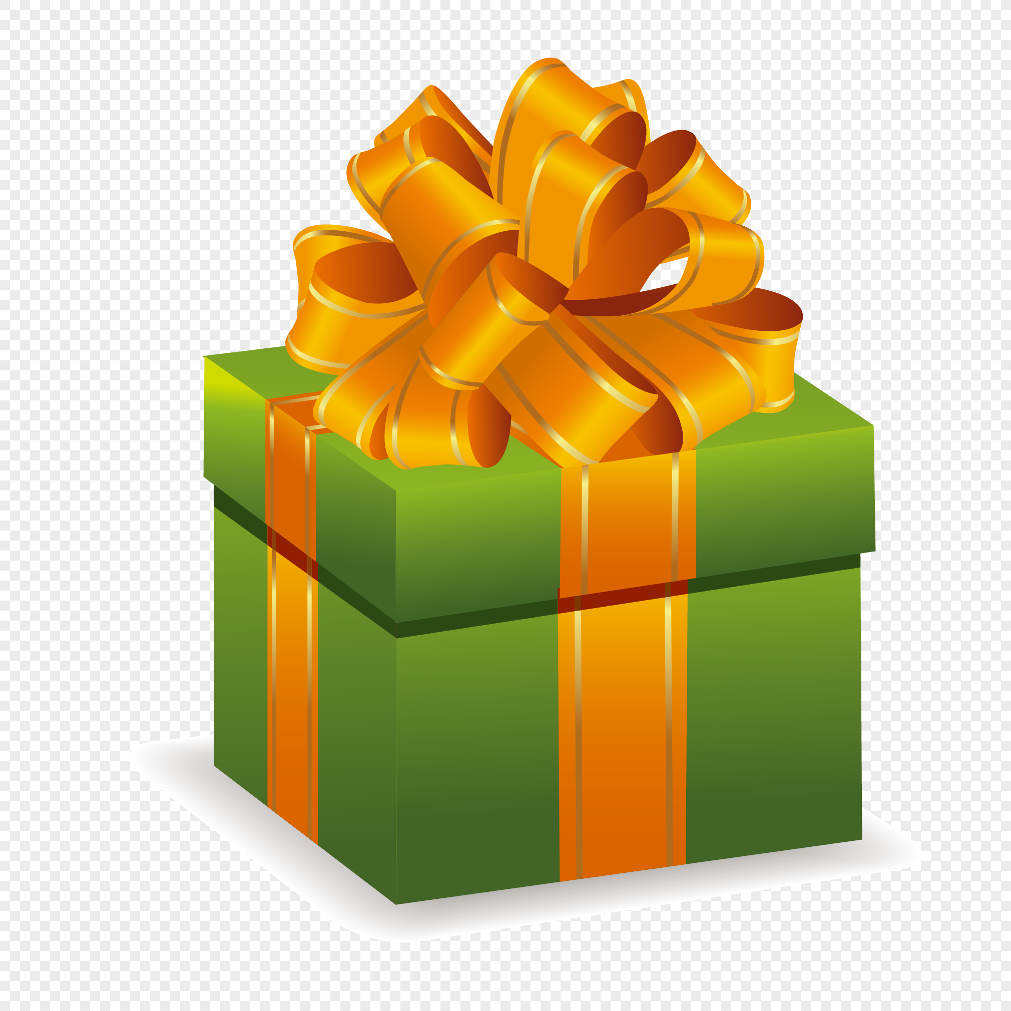 Green Birthday Gift Box Png Image Picture Free Download