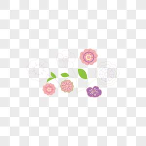 Dibujos Animados De Fondo De Flores De Color Rosa Purpura Imagen