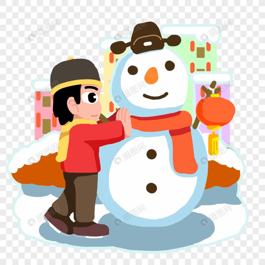 Año Nuevo Niño Haciendo Un Muñeco De Nieve Imágenes De Gráficos Png Gratis Lovepik