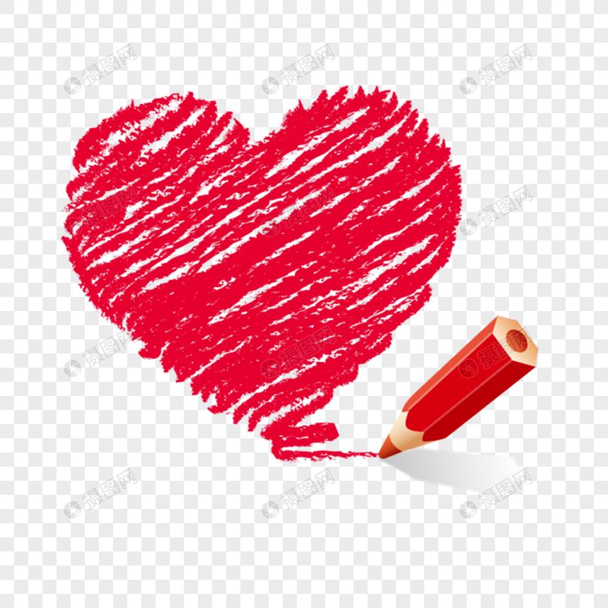 Dibujo A Mano De Dibujos Animados A Lápiz Dibujo Amor Corazón Imagen