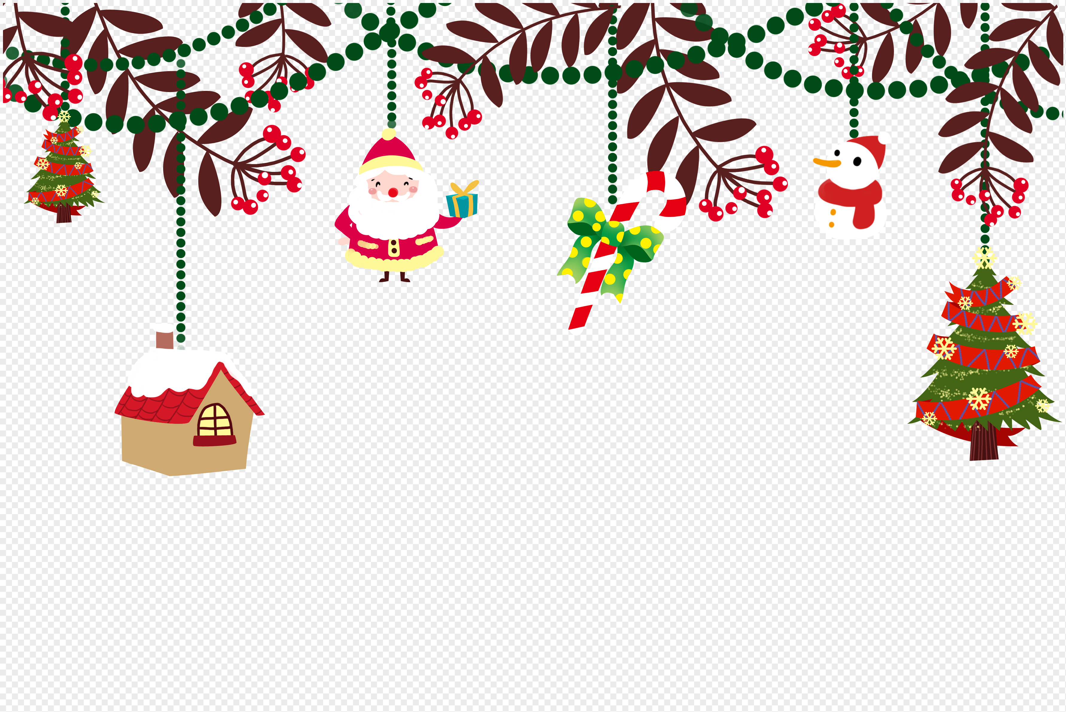Creative Christmas Decorating Material Png Image Picture Free