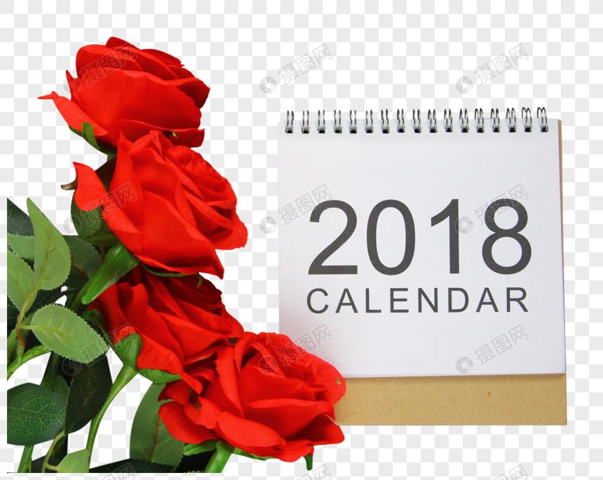 Calendario Rosa Png.Calendario De 2018 Com Rosa Vermelha Imagem Gratis Graficos