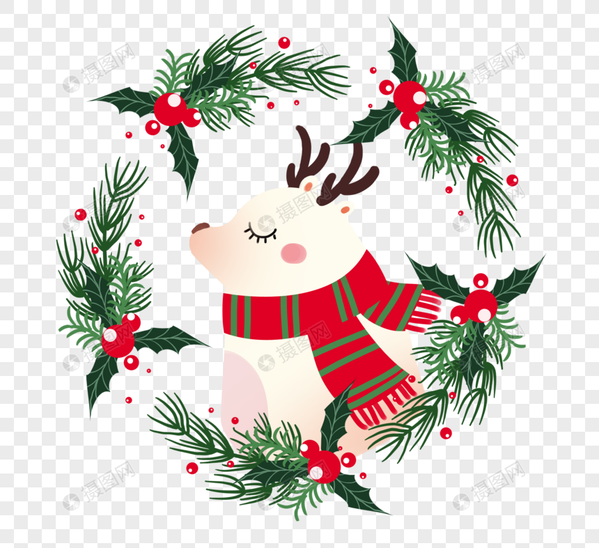Little Fresh Christmas Garland Png Image Picture Free