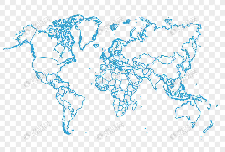 Blue World Map Vector Element Png Image Picture Free Download