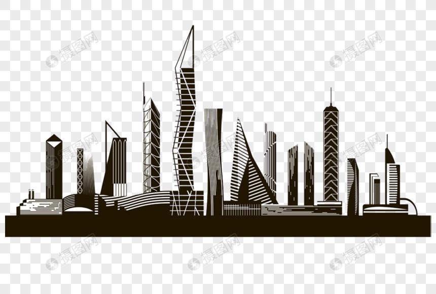 Silueta Del Edificio De La Ciudad Imagen Descargar Prf Graficos