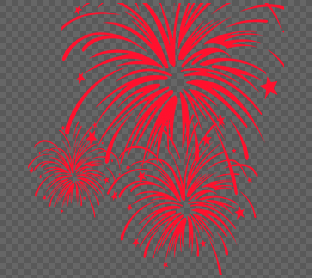 red fireworks new years day element png image picture free download