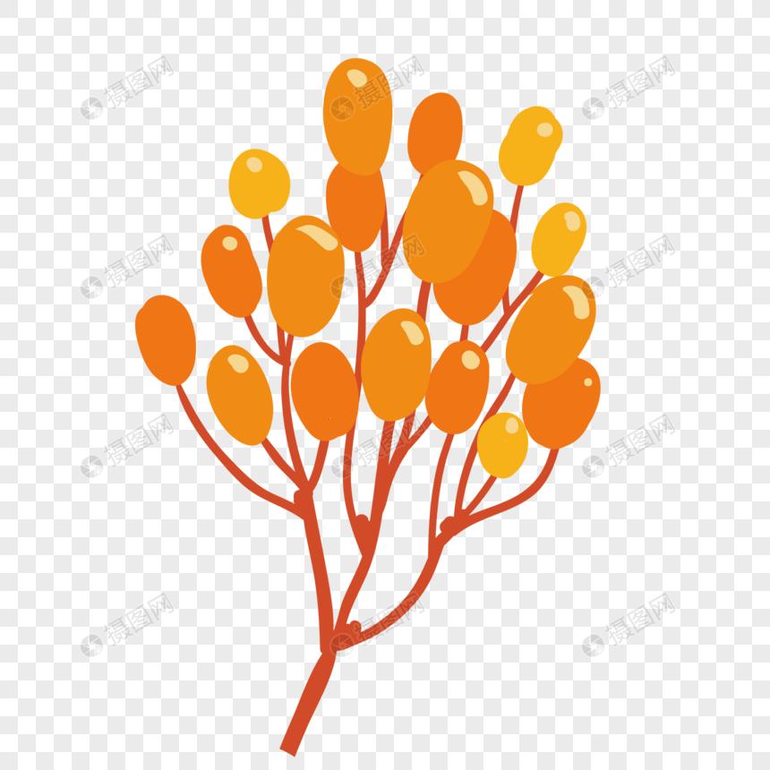 Flores De Dibujos Animados De Naranja Imagen Descargar Prf Graficos