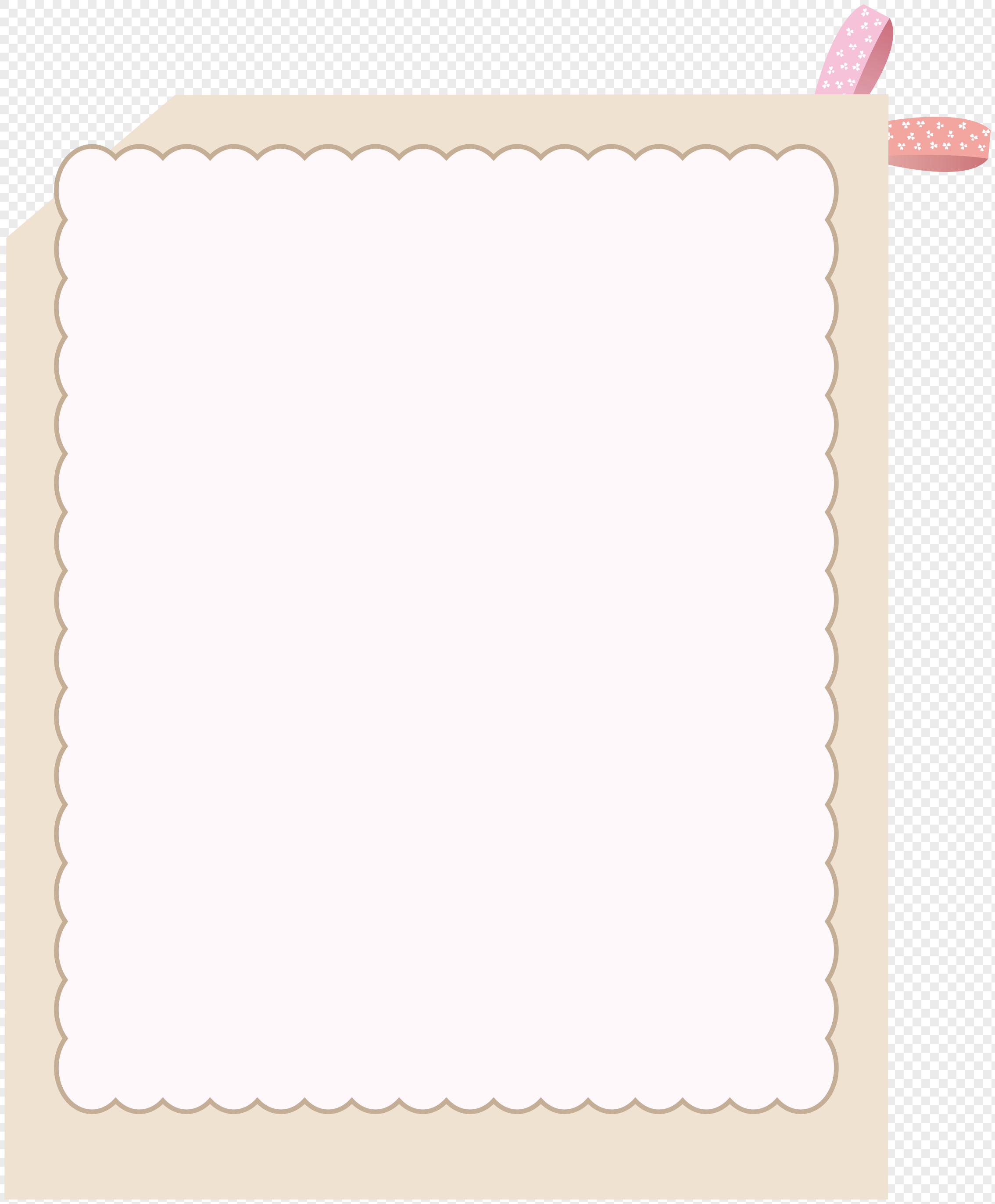 Hand drawn cartoon pink border photo frame png image_picture free ...