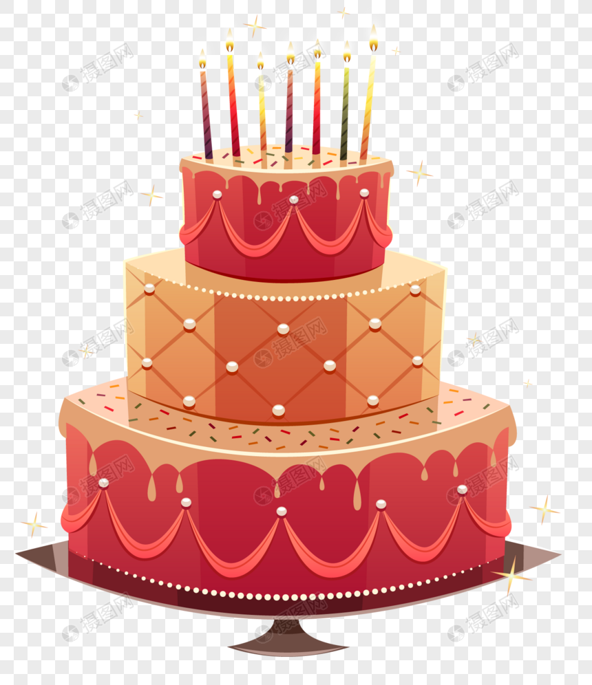 Beautiful Birthday Cake Png Image Picture Free Download