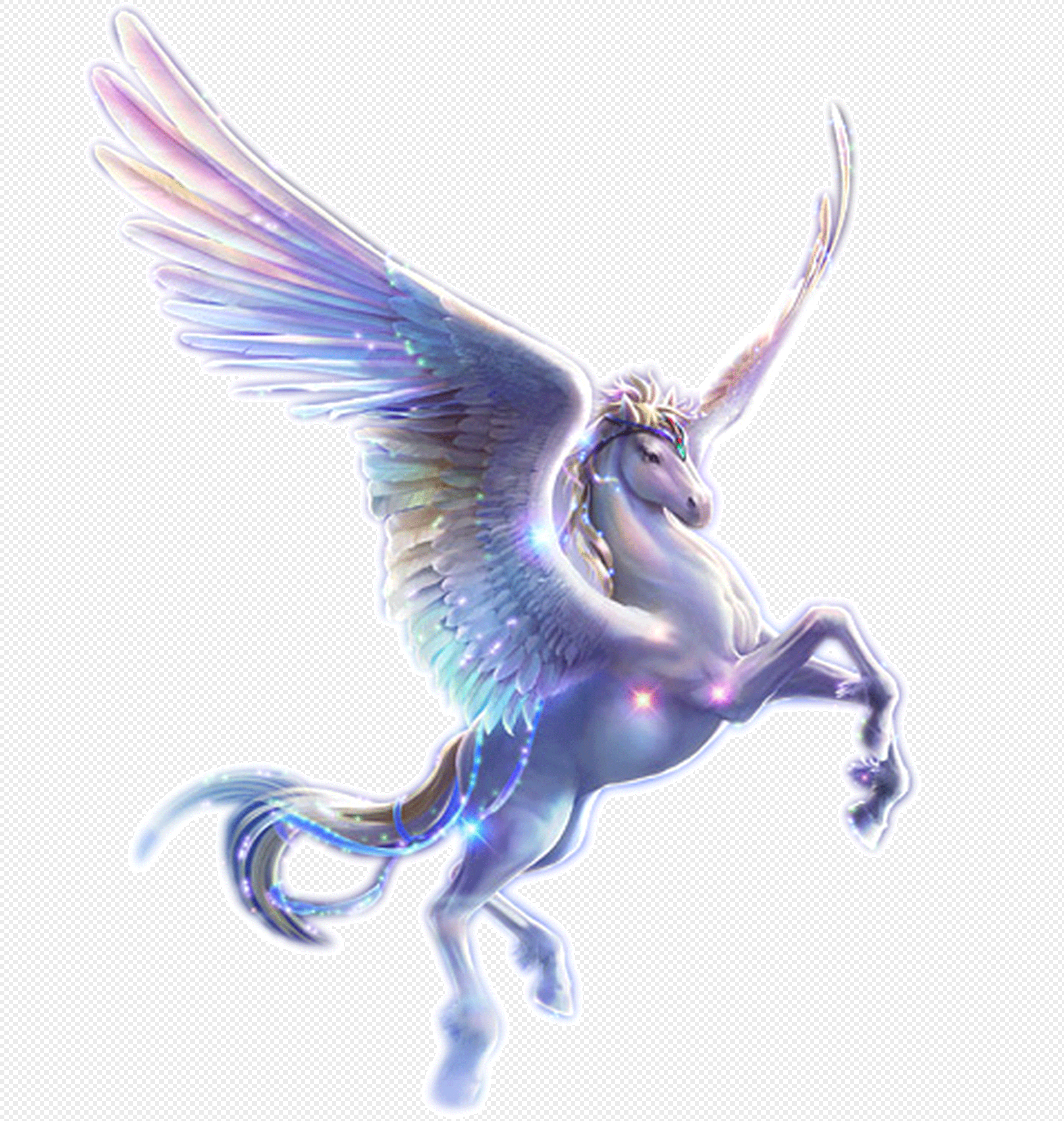 An Angel Flying Horse Png Image Picture Free Download