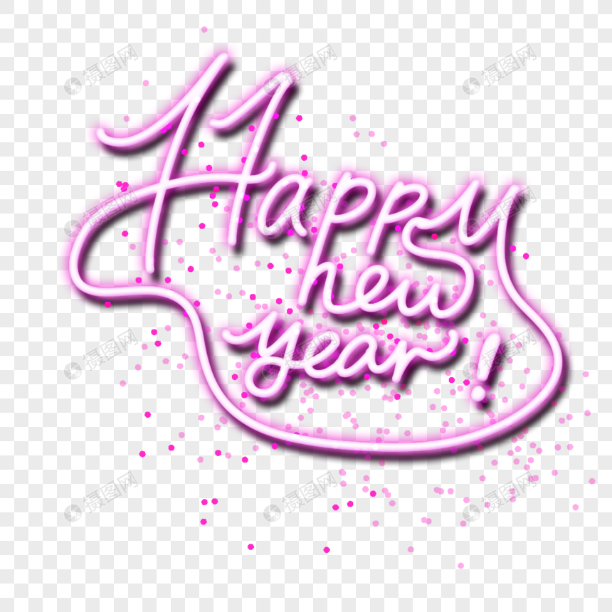 Happy New Year Font 47