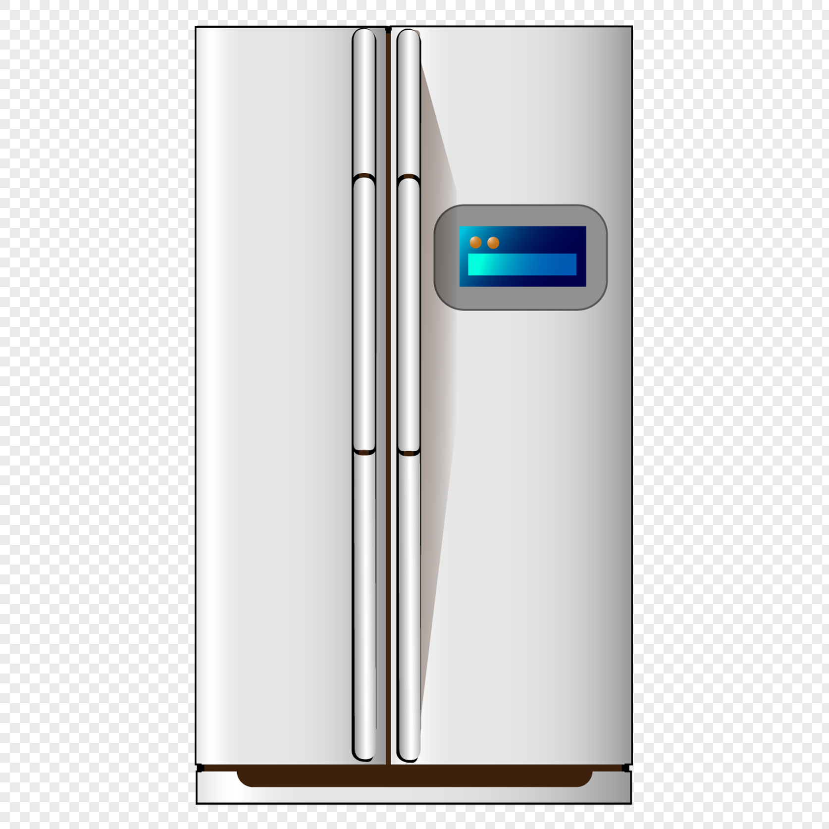 Intelligent Refrigerator For Household Appliances Png Image Picture