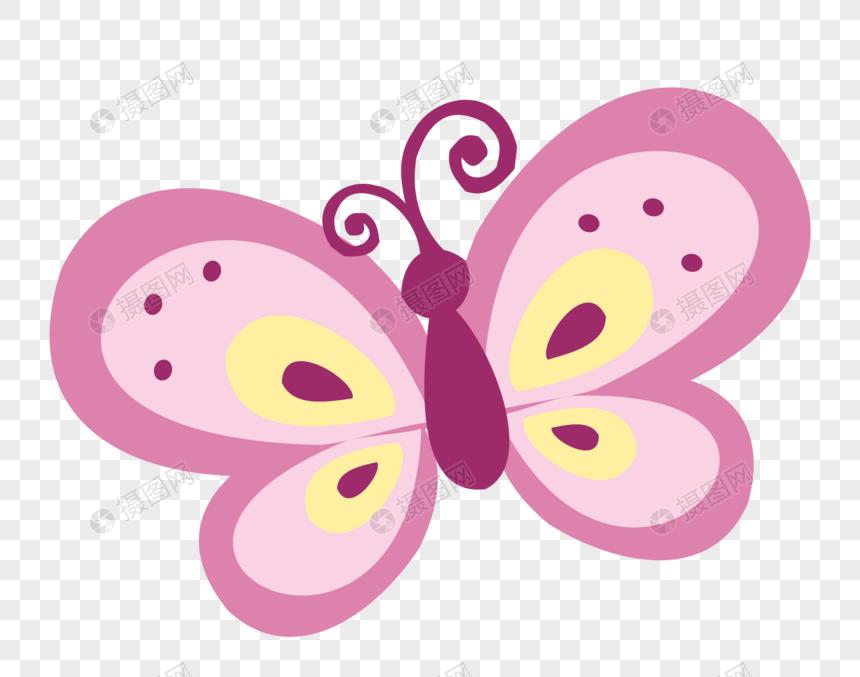 Mariposa De Dibujos Animados Imagen Descargar_PRF