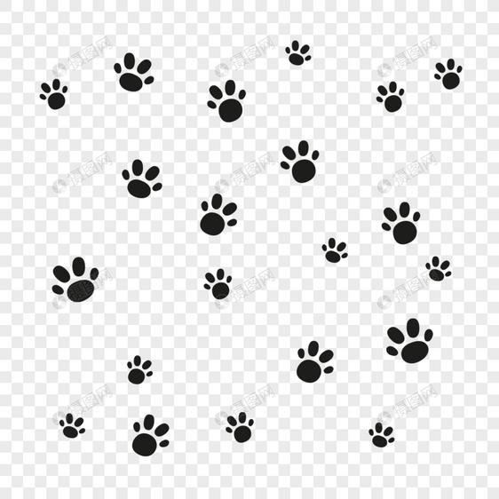 Huellas De Perro Mascota Negro Imagen Descargarprf Gráficos