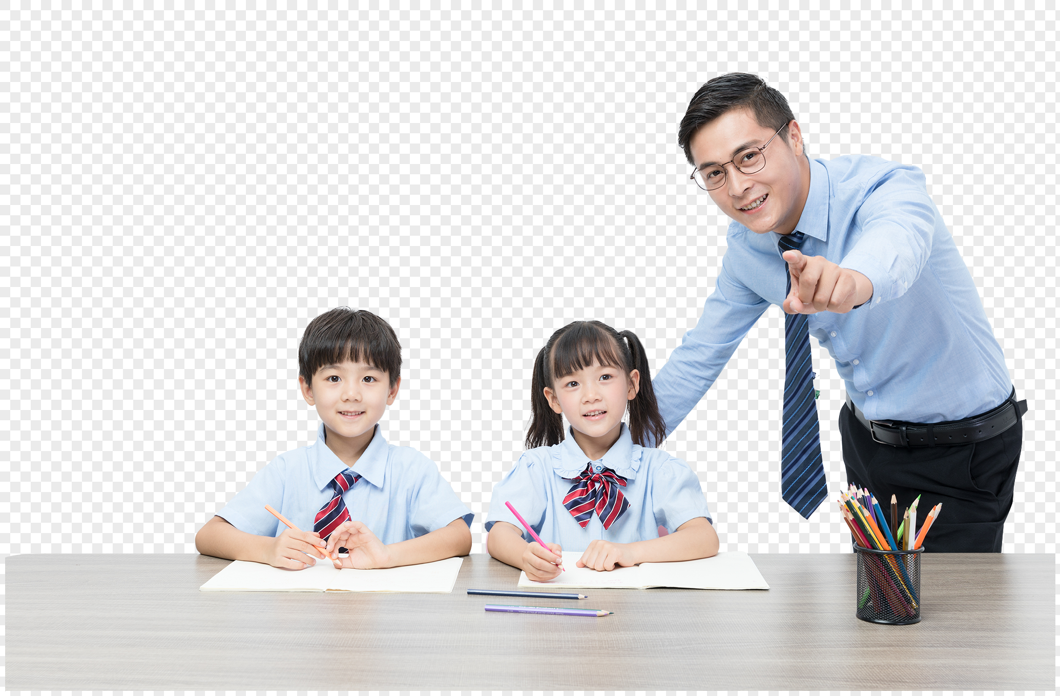 Teachers And Children Learn Together Png Image Picture Free Download