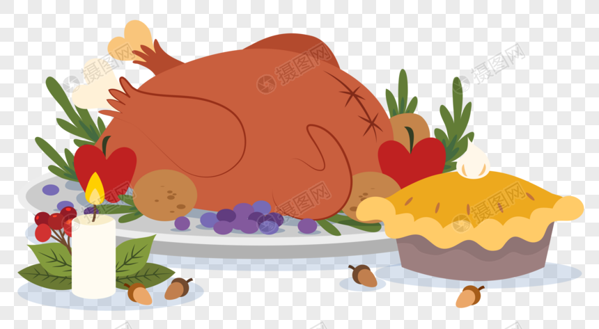 Turkey Dinner Church Clipart - Thanksgiving Food Clip Art - Free  Transparent PNG Clipart Images Download