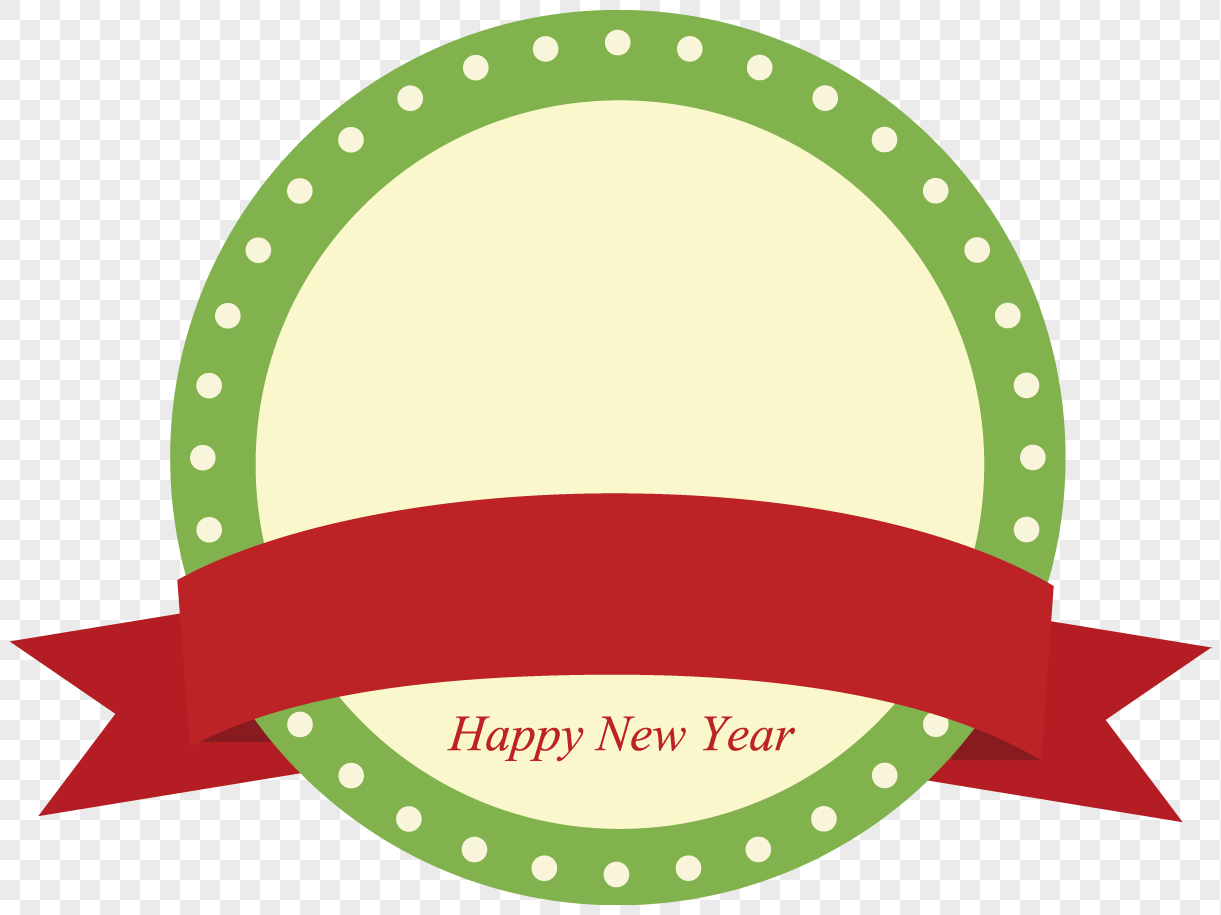 vector creative design new year label