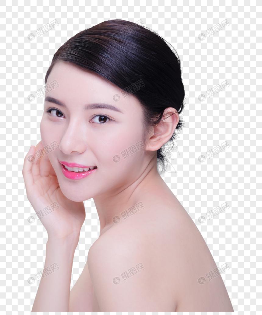 美容養生美女護膚動作 png