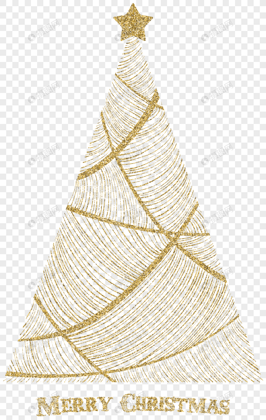 Golden Line Creative Christmas Tree Png Image Picture Free Download