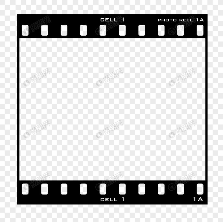 black geometry hand drawn film border png
