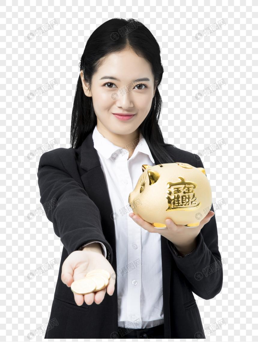 商務女性金融理財 png
