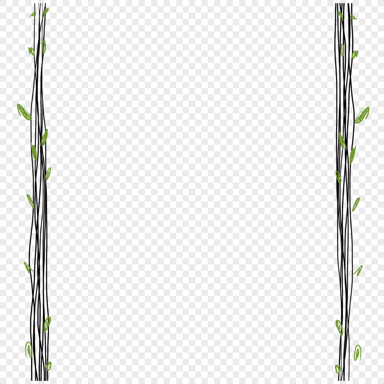 hand painted small fresh and simple rattan frame png image picture