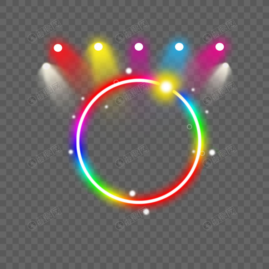 Neon ring luminous efficiency png image_picture free
