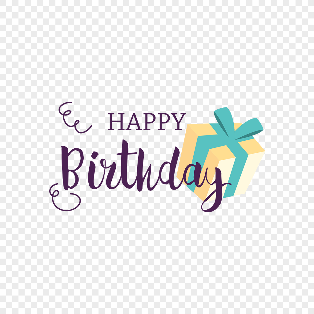 Happy Birthday Labels And Gift Box Png Image Picture Free Download
