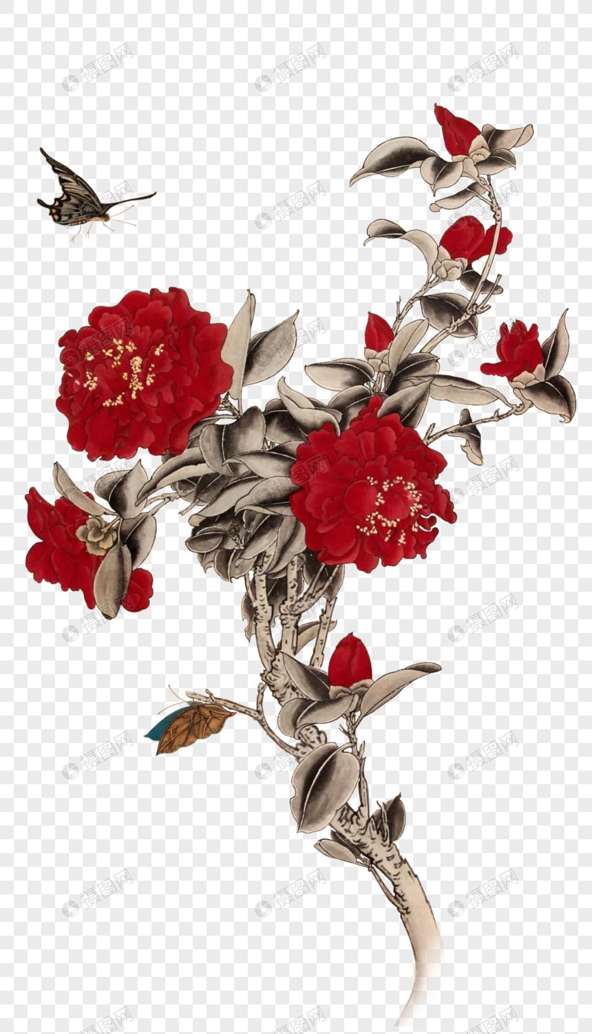 Photo De Peinture Chinoise Fleur De Pivoine Numero De L