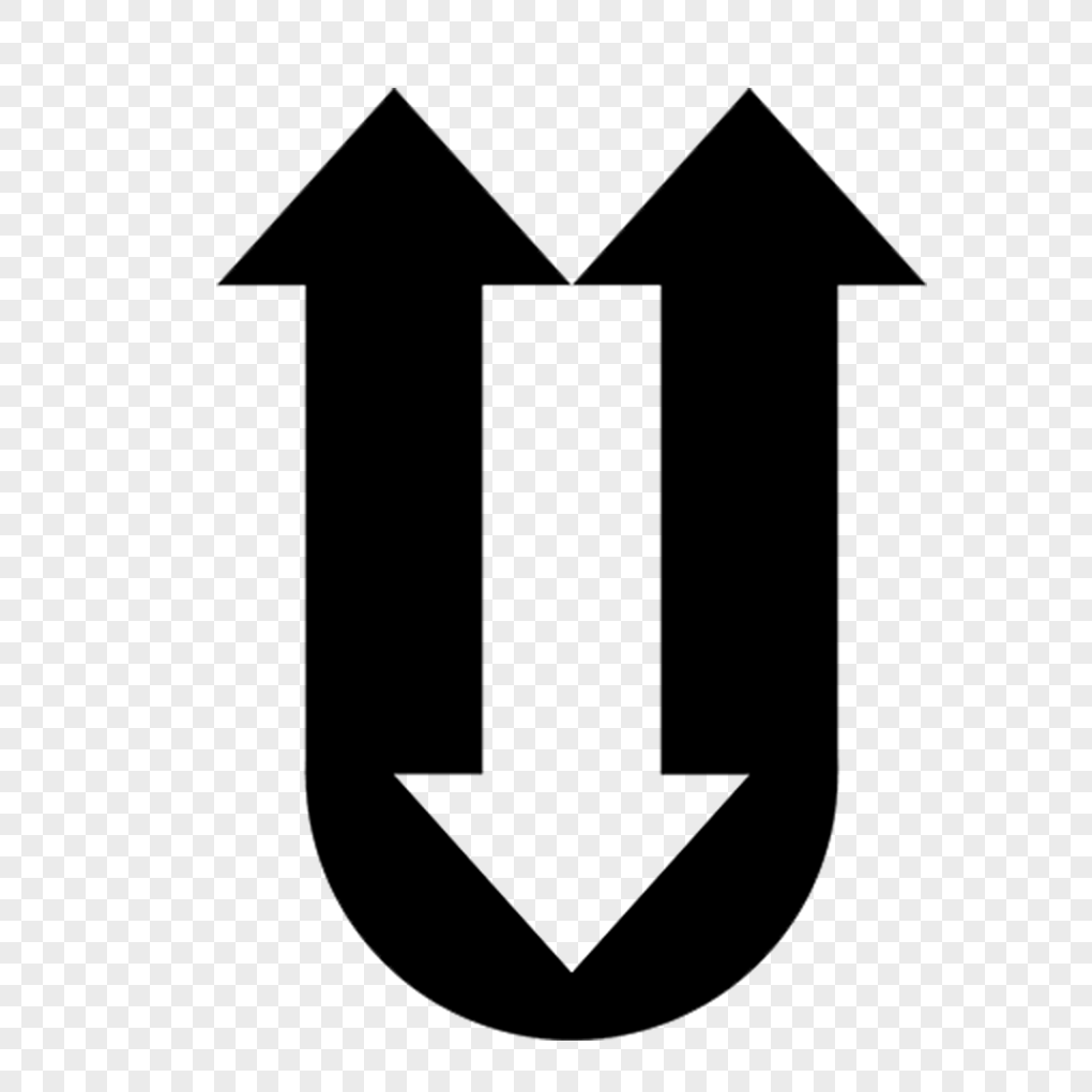 Black Arrow Letter U Design Png Image Picture Free Download