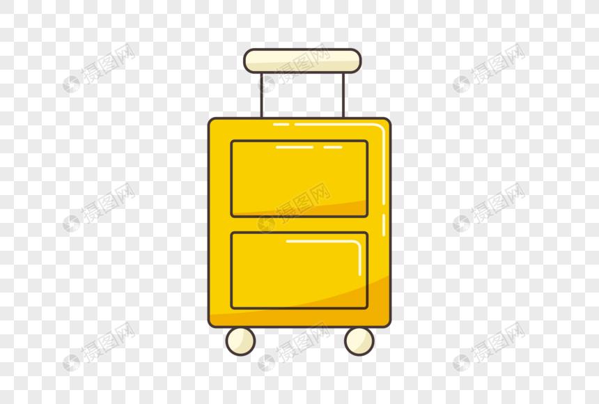 Elemento De Mala Amarela Dos Desenhos Animados Imagem