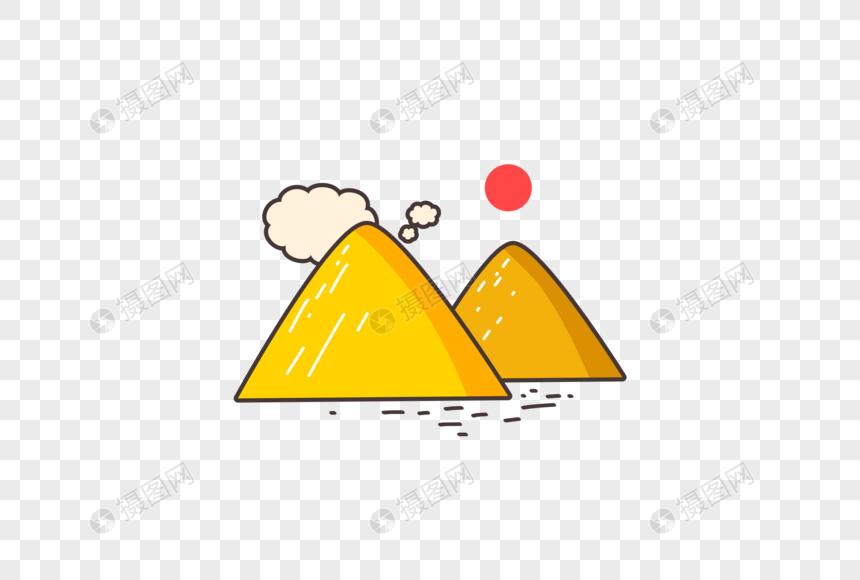 Unsur Ilustrasi Gunung Kartun Gambar Unduh Gratisimej