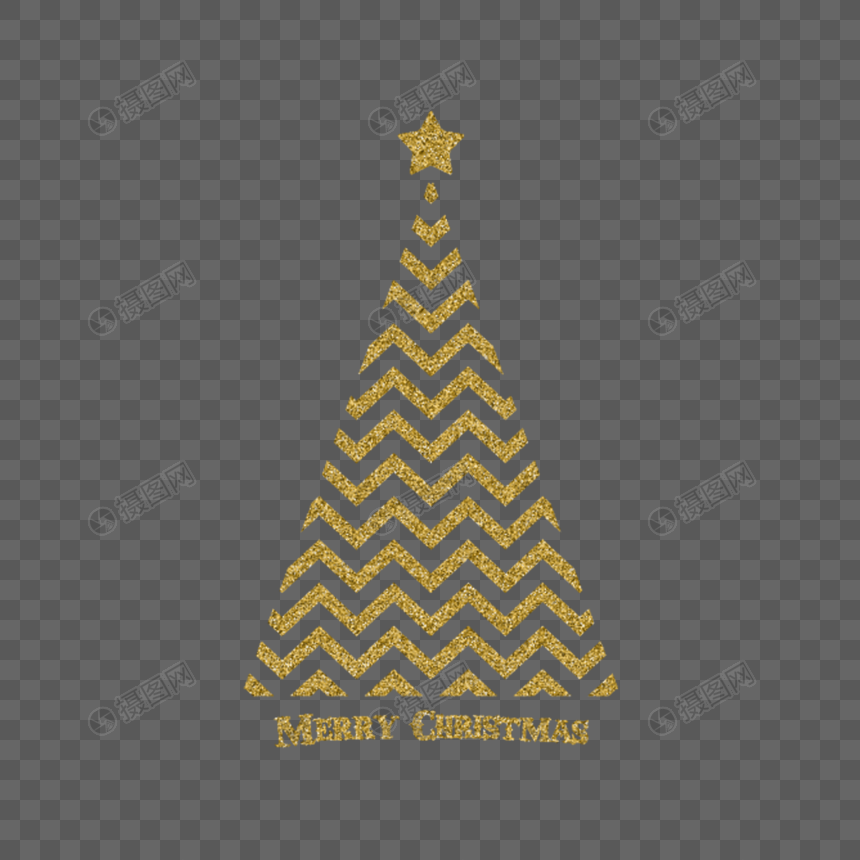 Golden Christmas Tree Png Image Picture Free Download