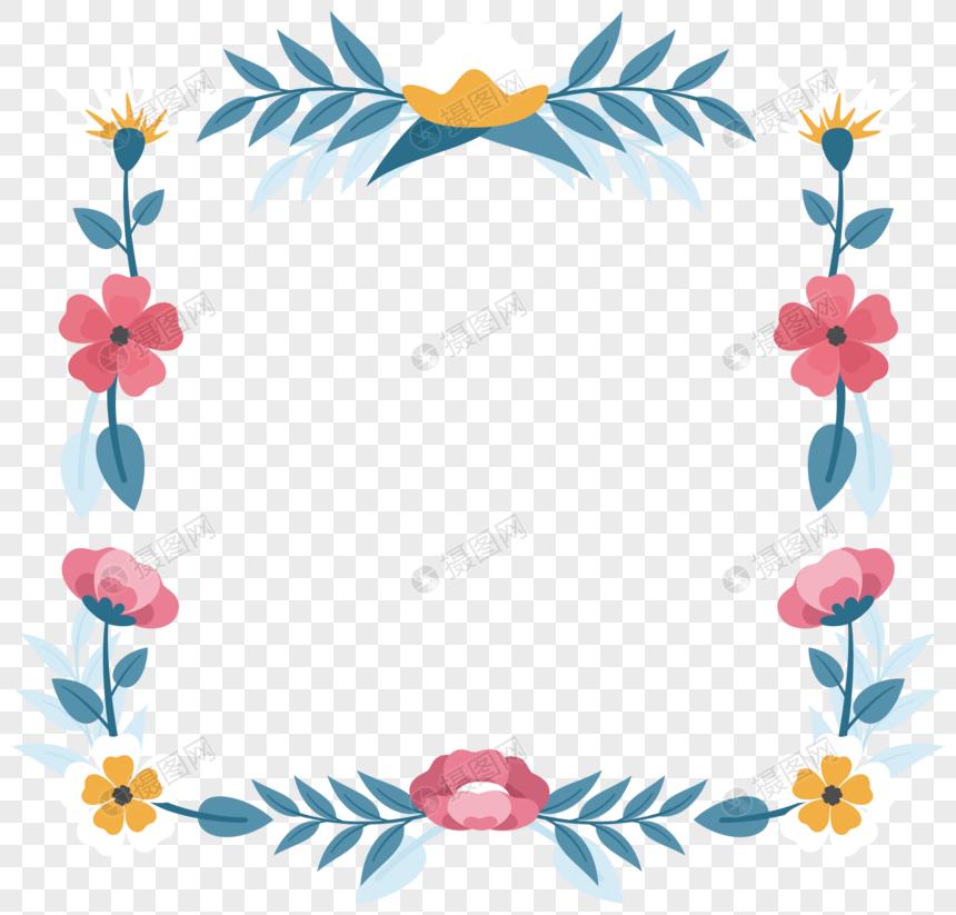 Vector Dibujado A Mano Lindo Marco De Flores Imagen Descargar
