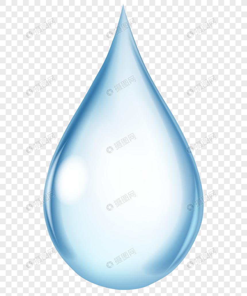 Dibujos Animados Azul Gota De Agua Efecto Diseño Gota Imagen