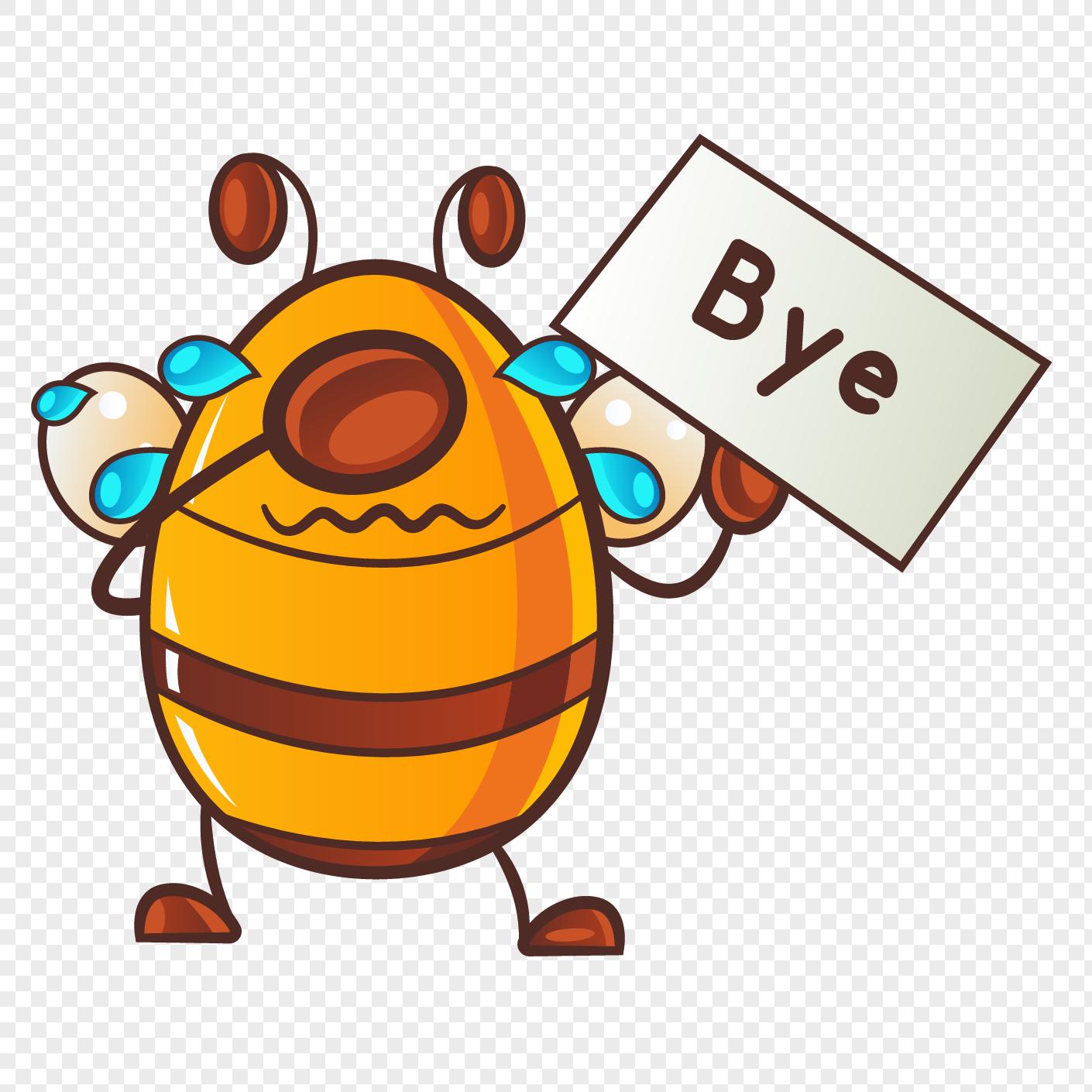 Clipart Bee Imej Kartun Lebah Lucu Wwwtollebildcom