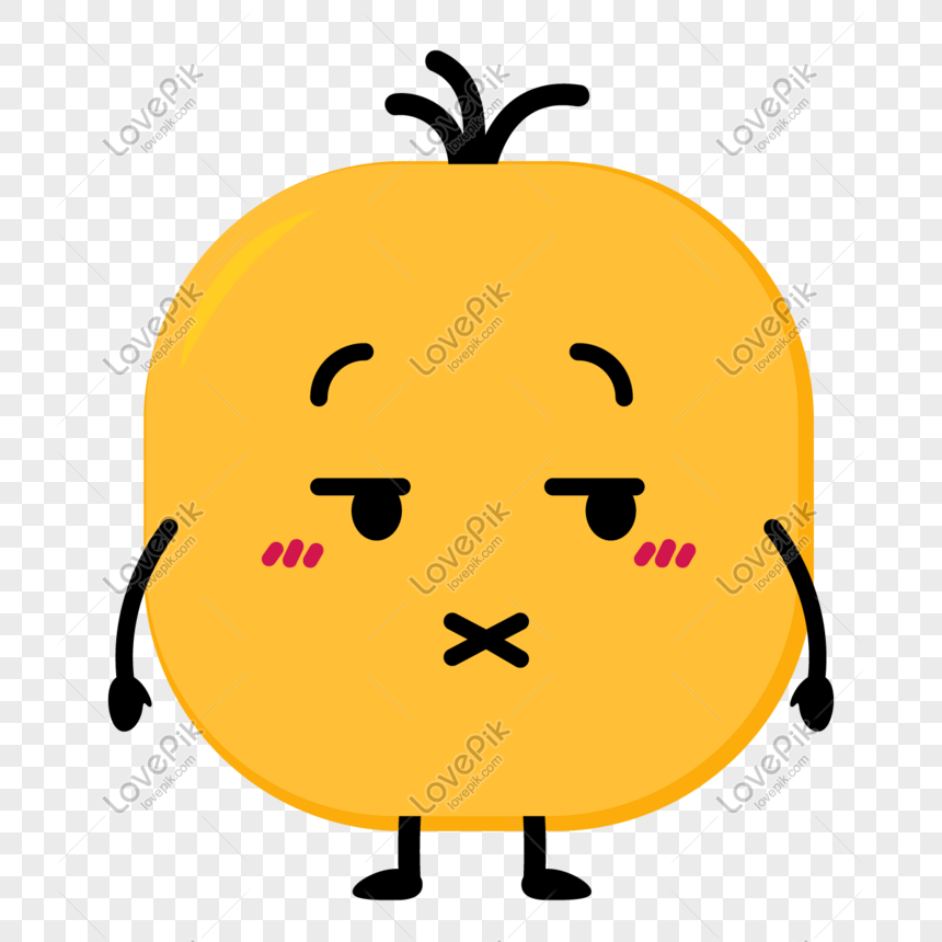 Shut up little yellow man png image_picture free download