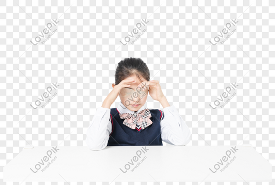 Murid Sekolah Dasar Melakukan Latihan Mata Gambar Unduh