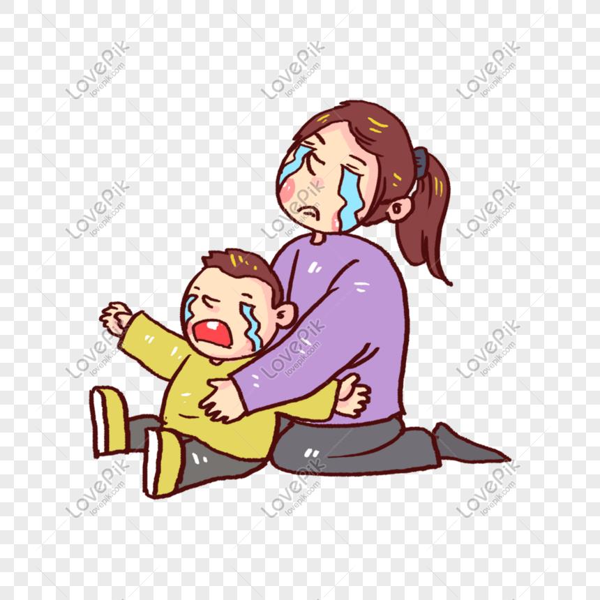 Ibu Dan Anak Menangis Png Grafik Gambar Unduh Gratis Lovepik