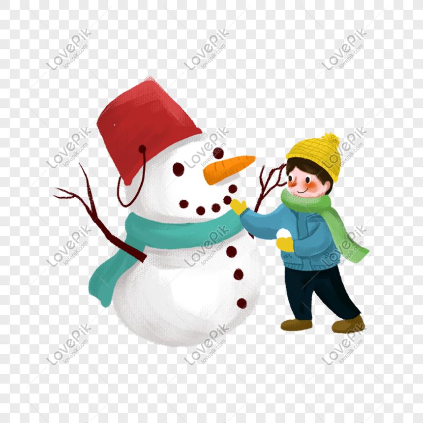 Niño Haciendo Un Muñeco De Nieve Imágenes De Gráficos Png Gratis Lovepik