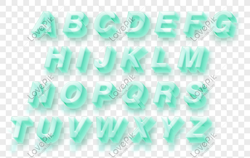 crystal stereo english letter png