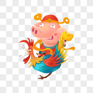 Pig cow chicken logooutline Royalty Free Vector Image