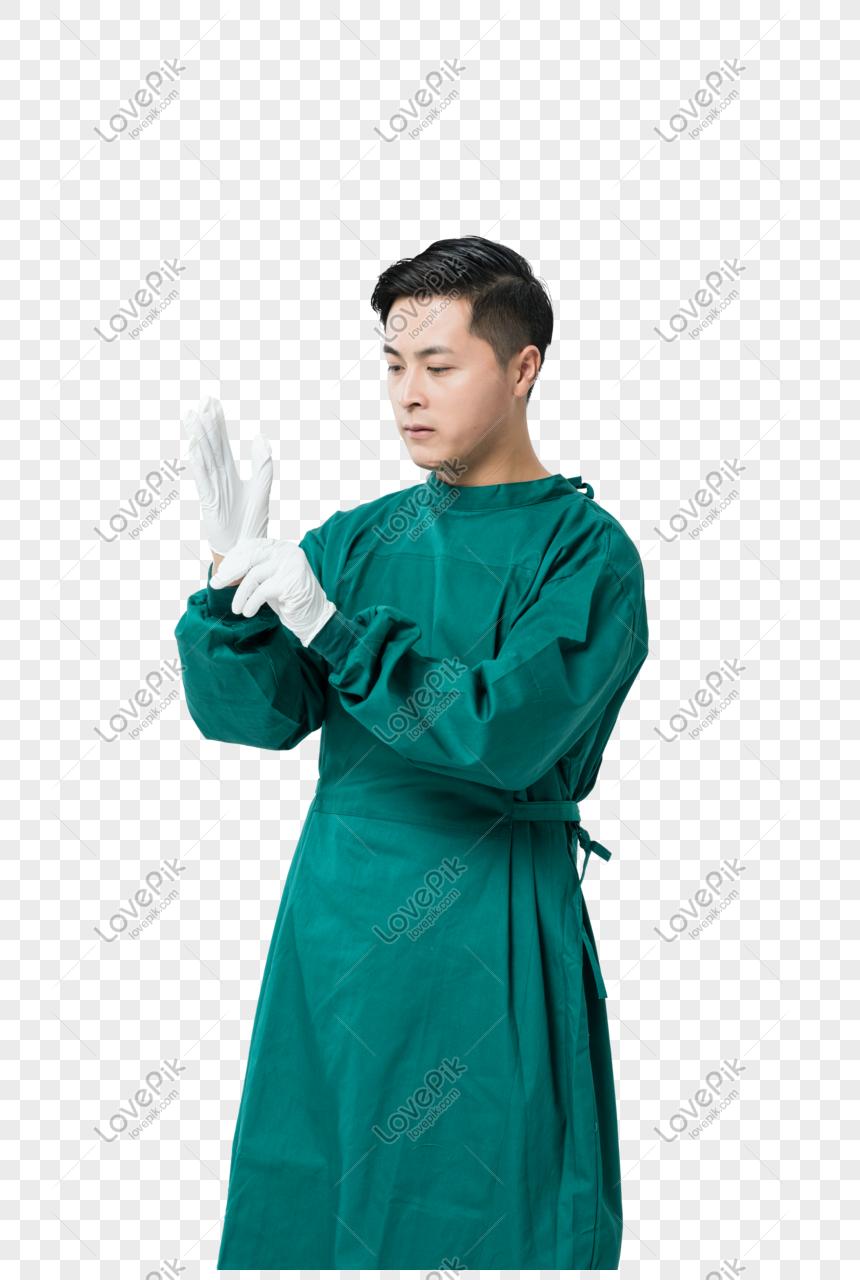醫生戴手套 png