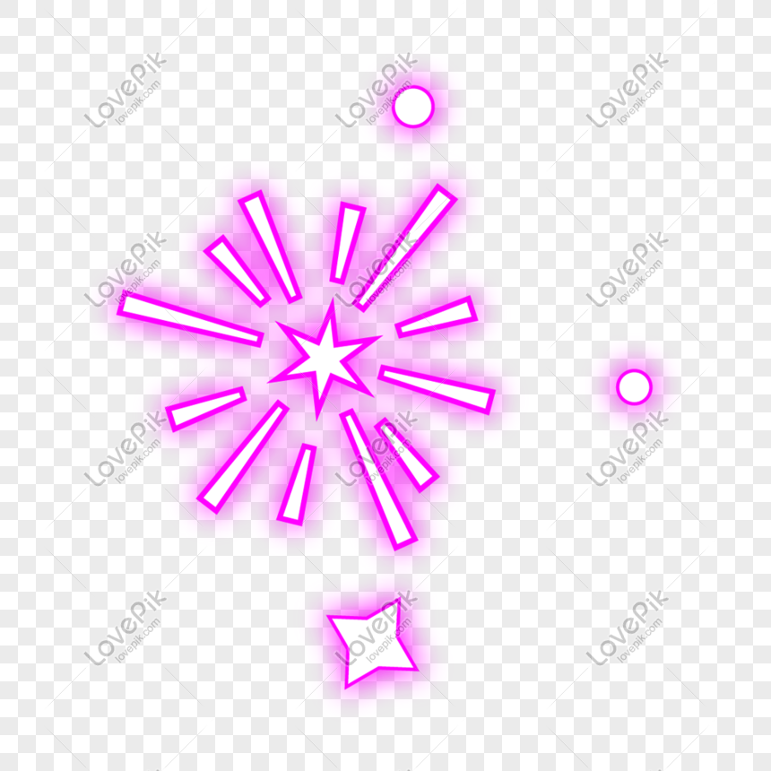purple fireworks neon lamp png