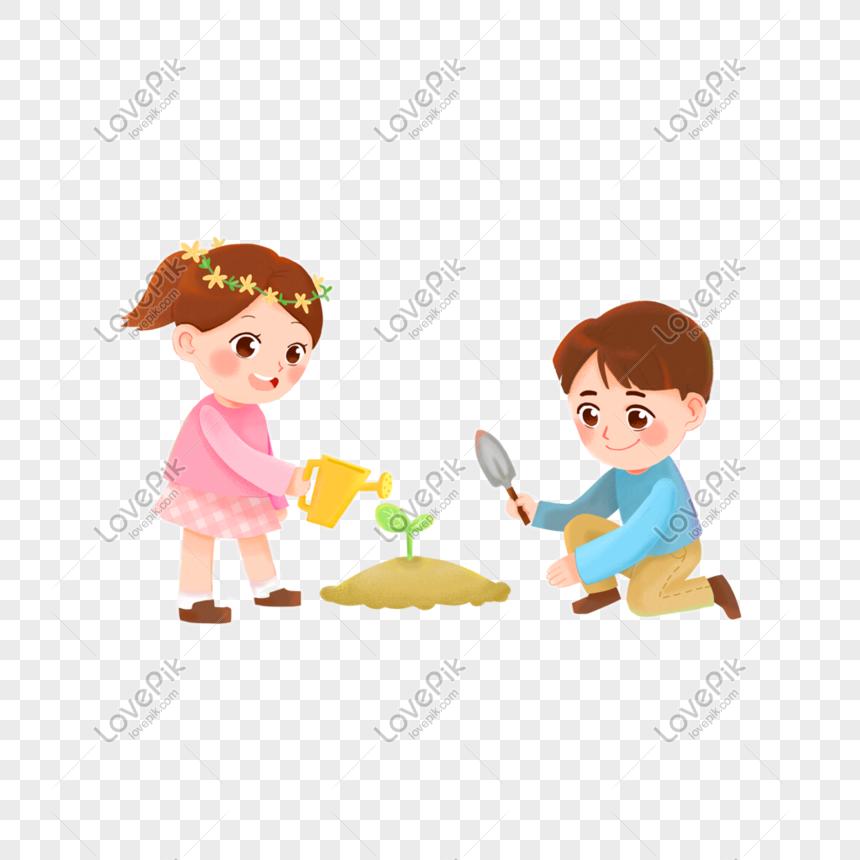 Lovepik صورة Png 401005934 Id الرسومات بحث صور طفل يزرع شجرة