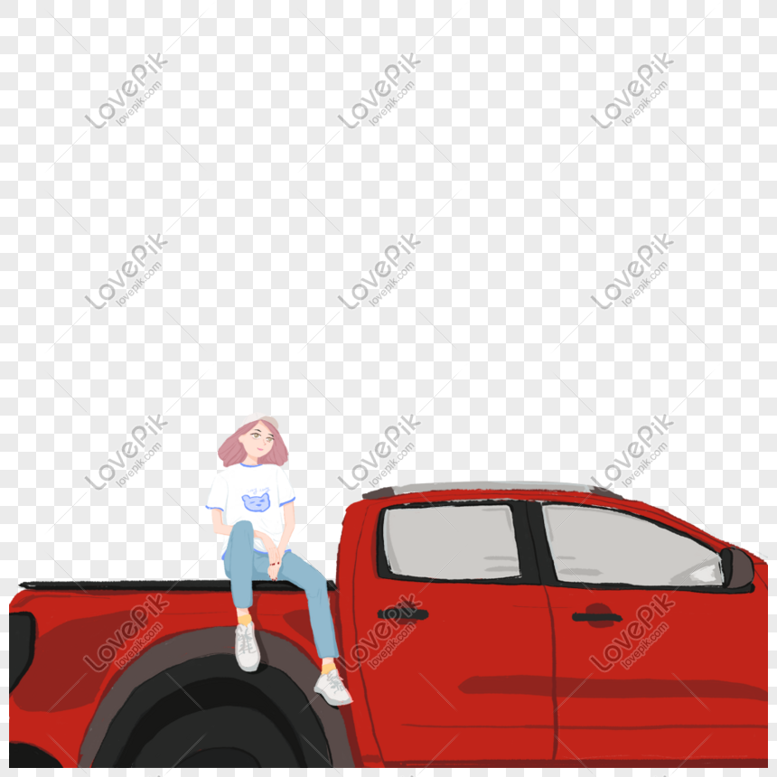 the girl in the car png