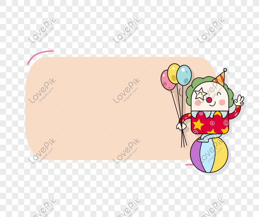 April Mop Hari Badut Kartun Happy Border Png Grafik Gambar Unduh