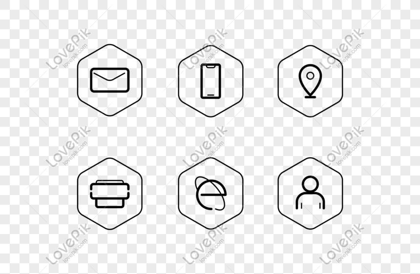 Business Card Resume Vector Wireframe Icon Icon Png Image Picture